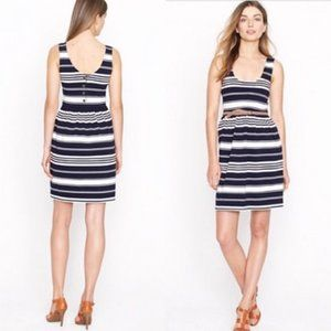 J.CREW Sleeveless Striped Fit Flare Villa Dress XL